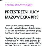 m37a_2017_przestrzeń ulicy - Mazowiecka KRK_zakładkaB_druk