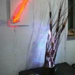 Sołtysik_Anna_2017_Osadzone Rozsadzające_instalacja rzeźbiarska_drewno wiklina podobrazie taśmy ledowe(1)